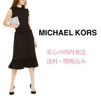 *国内発送* セール NEW 限定 MK Smocked Ruffled A-Line Dress