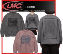 ★人気★【LMC】★LMC BORDER OVERSIZED ZIP-UP SWEATSHIRT★2色