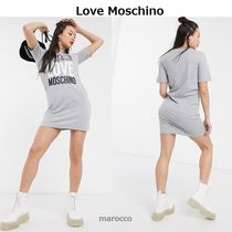 ★ Love Moschino ★100% made with slogan ロゴ・Tシャツワンピ