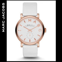 Marc by Marc Jacobs★BAKER WHITE LEATHER STRAP WATCH