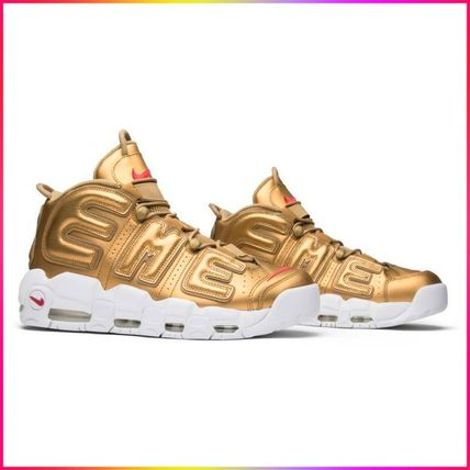 "Nike スニーカー Nike Air More Uptempo Supreme ""Suptempo"" Gold  シュプテン"