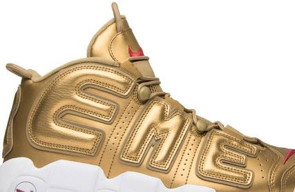 "Nike スニーカー Nike Air More Uptempo Supreme ""Suptempo"" Gold  シュプテン(4)"