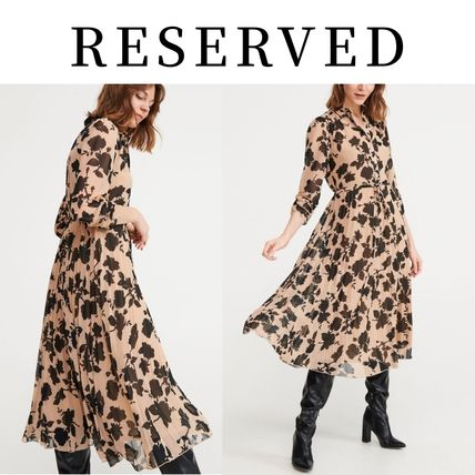 RESERVED ワンピース 新作【RESERVED(リザーブド) 】Dress with pleated bottom(8)