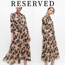 RESERVED(リザーブド) ワンピース 新作【RESERVED(リザーブド) 】Dress with pleated bottom