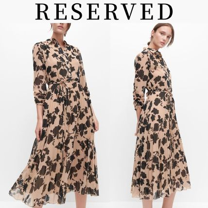 RESERVED ワンピース 新作【RESERVED(リザーブド) 】Dress with pleated bottom