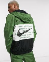 Nike Swoosh zip-through woven hooded jacket