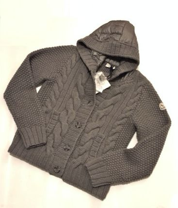 MONCLER アウターその他 国内即発☆ロゴパッチニットのアウターMONCLER(4)