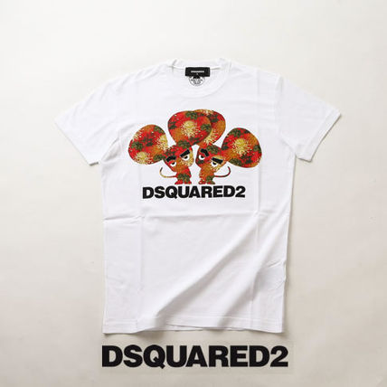 D SQUARED2 Tシャツ・カットソー ディースクエアードツインズプリントTシャツs74gd0654-100
