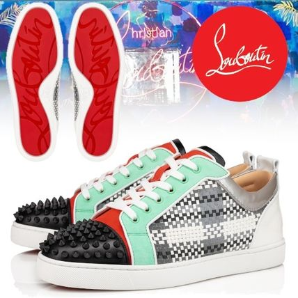Christian Louboutin スニーカー ルブタン●直営店買付●コントラストLouis Junior Spikes Orlato