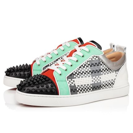Christian Louboutin スニーカー ルブタン●直営店買付●コントラストLouis Junior Spikes Orlato(2)