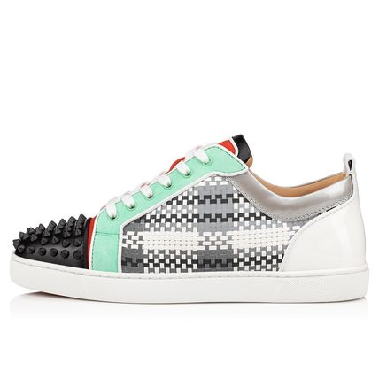 Christian Louboutin スニーカー ルブタン●直営店買付●コントラストLouis Junior Spikes Orlato(3)