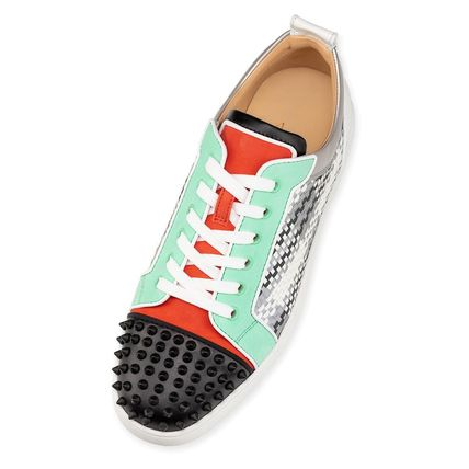 Christian Louboutin スニーカー ルブタン●直営店買付●コントラストLouis Junior Spikes Orlato(5)