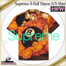 19FW /Supreme 8-Ball Rayon S/S Shirt レーヨン シャツ 総柄