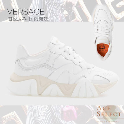 VERSACE スニーカー VERSACE Squalo Trainers Sneakers WHITE 関税込