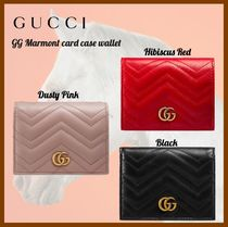 GUCCI☆春夏☆GG Marmont card case wallet