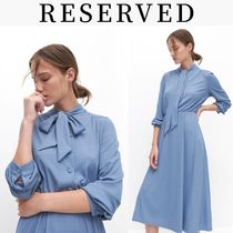 RESERVED(リザーブド) ワンピース 新作【RESERVED(リザーブド) 】Dress with neck tie ワンピース