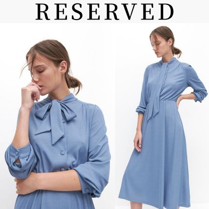 RESERVED ワンピース 新作【RESERVED(リザーブド) 】Dress with neck tie ワンピース