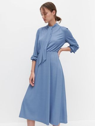 RESERVED ワンピース 新作【RESERVED(リザーブド) 】Dress with neck tie ワンピース(3)