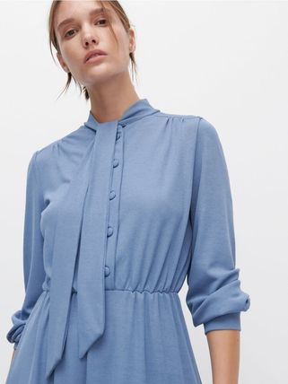 RESERVED ワンピース 新作【RESERVED(リザーブド) 】Dress with neck tie ワンピース(6)
