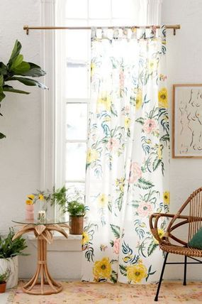 Urban Outfitters カーテン 【UrbanOutifitters】カラフル花柄Tropical Floral Window Panel(2)