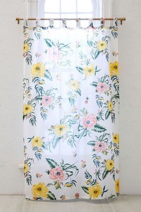 Urban Outfitters カーテン 【UrbanOutifitters】カラフル花柄Tropical Floral Window Panel(3)