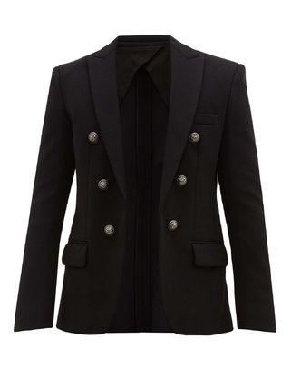 BALMAIN スーツ ◆国内発送◆Double-breasted basketweave blazer(2)