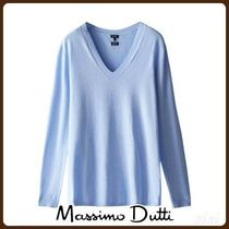 MassimoDutti♪V-NECK ECOLOGICALLY GROWN COTTON SWEATER