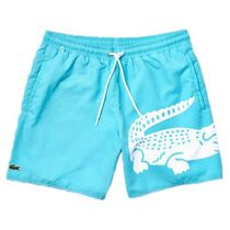 LACOSTE スイムパンツ Oversized Crocodile Print Light 水色