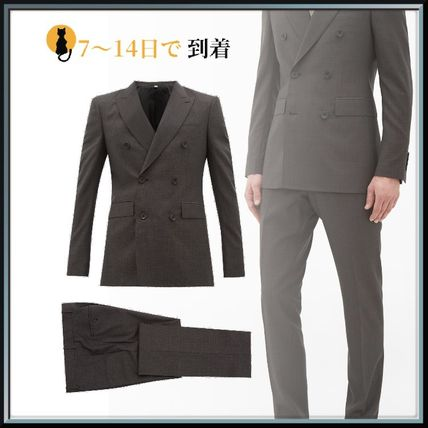 Burberry スーツ ◆国内発送◆Double-breasted checked wool-blend suit