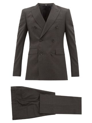 Burberry スーツ ◆国内発送◆Double-breasted checked wool-blend suit(2)