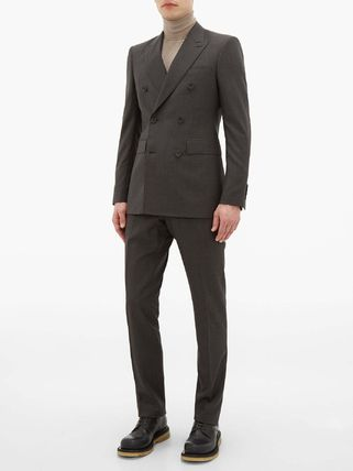 Burberry スーツ ◆国内発送◆Double-breasted checked wool-blend suit(3)