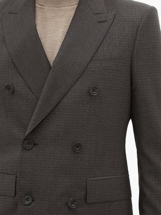 Burberry スーツ ◆国内発送◆Double-breasted checked wool-blend suit(4)
