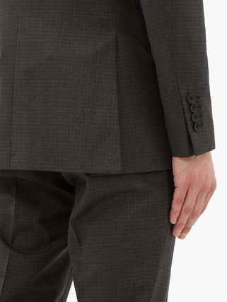 Burberry スーツ ◆国内発送◆Double-breasted checked wool-blend suit(5)