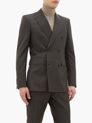 Burberry スーツ ◆国内発送◆Double-breasted checked wool-blend suit(7)
