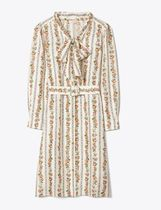 Tory Burch PRINTED BOW SHIRTDRESS