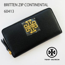 即発 TORY BURCH★BRITTEN ZIP CONTINENTAL 60413 長財布