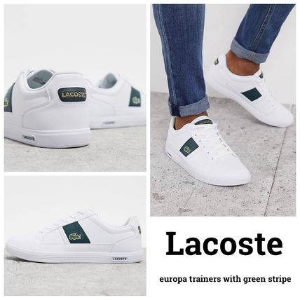 LACOSTE スニーカー 【国内発送】Lacoste ☆europa trainers with green stripe☆