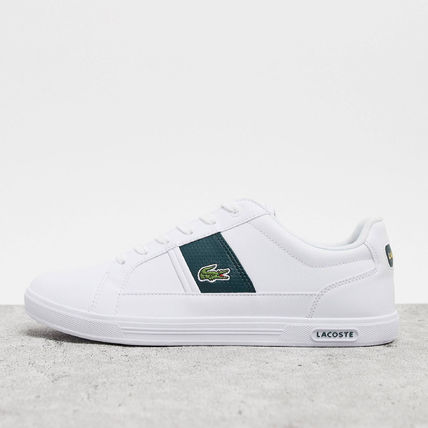 LACOSTE スニーカー 【国内発送】Lacoste ☆europa trainers with green stripe☆(2)