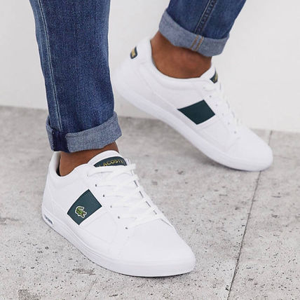 LACOSTE スニーカー 【国内発送】Lacoste ☆europa trainers with green stripe☆(3)