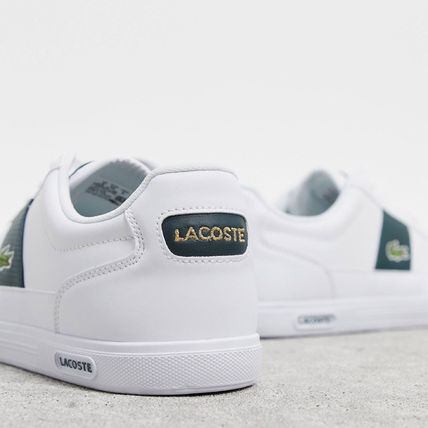LACOSTE スニーカー 【国内発送】Lacoste ☆europa trainers with green stripe☆(4)