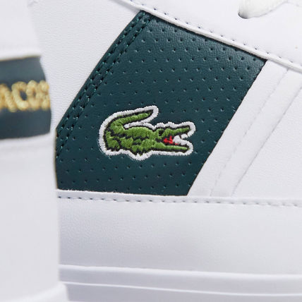 LACOSTE スニーカー 【国内発送】Lacoste ☆europa trainers with green stripe☆(5)