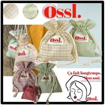 ★送料・関税込★Ossl★ cotton candy check pouch★3色