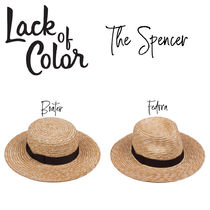 【Lack of Color】The Spencer Boater/Fedora  ストローハット