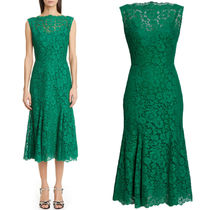 DG2280 LACE GODET MIDI DRESS