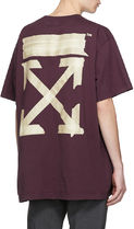 ★OFF-WHITE★ TAPE ARROWS OVER T-SHIRT PURPLE テープアロー紫