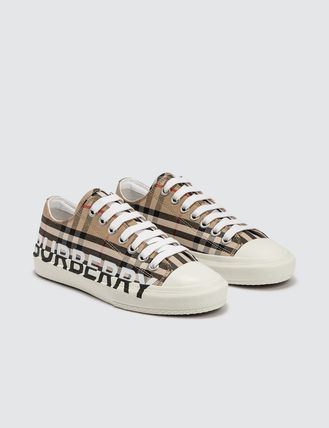Burberry スニーカー [BURBERRY] Logo Print Vintage Check Cotton Sneakers(3)