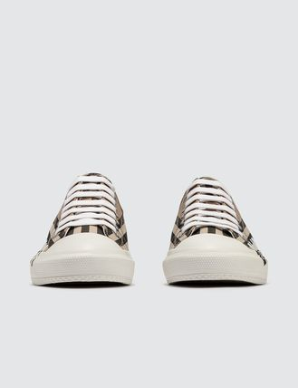 Burberry スニーカー [BURBERRY] Logo Print Vintage Check Cotton Sneakers(4)