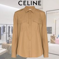 【20SS★新作】★CELINE★military-style button-up shirt