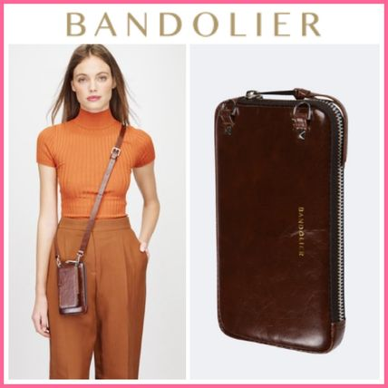 Bandolier スマホケース・テックアクセサリー NEW!! ☆Bandolier☆ Distressed Leather Expanded Zip Pouch