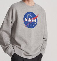 "RESERVED(リザーブド) スウェット・トレーナー ""RESERVED MEN"" NASA SWEAT SHIRT GRAY/MEATBALL"